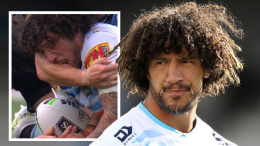 Kevin Proctor was sent off for biting against the Sharks on Saturday.