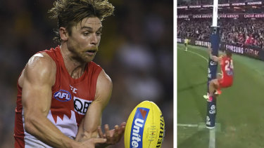Sydney's five-point win over Essendon has become embroiled in controversy due to Dane Rampe's actions as David Myers lined up for an after-the-siren shot on goal.