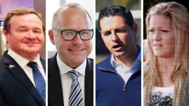 Potential preselection challengers Kent Johns, Dallas McInerney, Ned Mannoun and Bree Till.