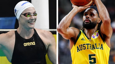 Swimmer Cate Campbell and basketballer Patty Mills.