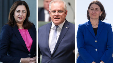 Prime Minster Scott Morrison will push state and territory leaders, including premiers Annastacia Palaszczuk and Gladys Berejiklian, to fix border restrictions.