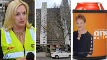 Australia Post chief executive Christine Holgate intervened to get Pauline Hanson stubby holders distributed to residents in one of Melbourne's locked down public housing towers.