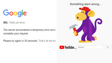 Gogole services such as Gmail and YouTube are experiencing widespread outages around the world.