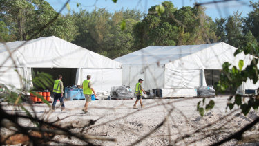 The refugee processing centre at Nauru.