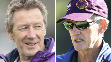 Master and apprentice: Wayne Bennett and Craig Bellamy.