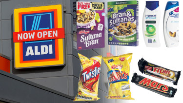 Aldi's cut-price products are packaged in ways that evoke leading brands.