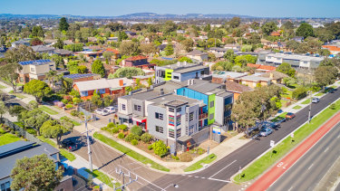 The two-storey property at 169-171 Stud Road, Wantirna South is leased to five tenants.