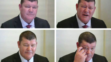 James Packer faced a barrage of questions at the ILGA inquiry.  Now his board is at risk.