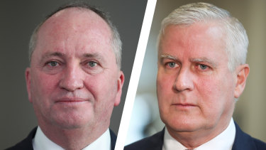 Barnaby Joyce has successfully challenged Michael McCormack for the Nationals leadership.