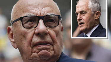 Rupert Murdoch and Malcolm Turnbull.