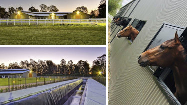 The $4.5 million Platinum Park horse training facility at Hawkesbury.