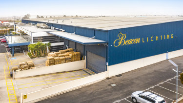 Beacon Lightings' purpose-built distribution facility in Derrimut, Victoria owned by Centuria Industrial REIT.