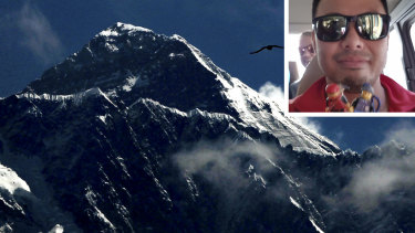 Australian Gilian Lee (inset) was rescued on Mount Everest in May.