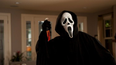 Ghostface, in Wes Craven's Scream movies.