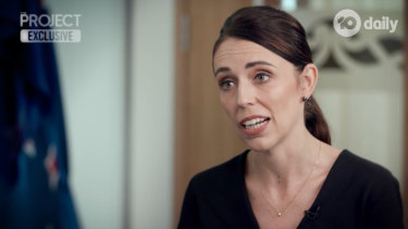 New Zealand Prime Minister Jacinda Ardern on The Project on Monday night.