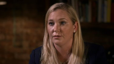 Virginia Giuffre pictured in her interview with BBC Panorama.