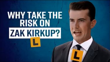 WA Labor is running several negative ads including a television campaign targeting Opposition Leader Zak Kirkup.