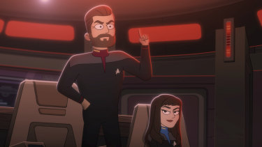 Jonathan Frakes and Next Generation co-star Marina Sirtis lent their voices to the animated series Star Trek: Lower Decks.