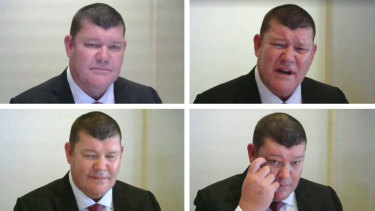 James Packer at the Crown inquiry on Tuesday.