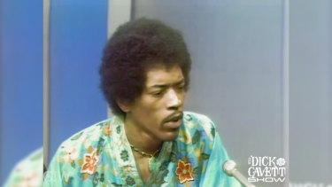 Jimi Hendrix discusses his controversial performance of the US national anthem at Woodstock in 1969.