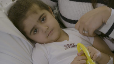 Three-year-old Sienna Osta has sickle cell disease and will require blood transfusions for the rest of her life.