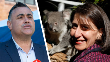 Nationals leader John Barilaro is flying in the face of history in his stoush with Premier Gladys Berejiklian.