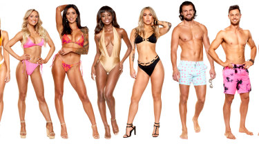 Some of the cast of Love Island Australia season two.
