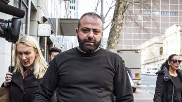 Nabil Maghnie leaves Melbourne Magistrates Court in July.