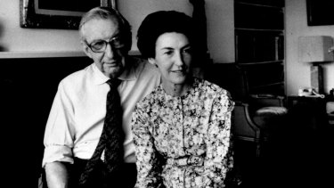 Shirley Hazzard with her husband, biographer and translator Francis Steegmuller.