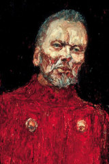 Nicholas Harding 's 2001 Archibald Prize winning painting of  John Bell as King Lear.