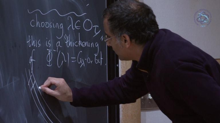 Professor Akshay Venkatesh at Princeton.