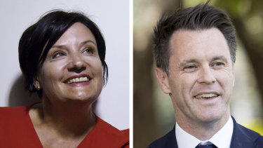 Strathfield MP Jodie McKay and Kogarah MP Chris Minns, who are vying for the leadership of the Labor Party.