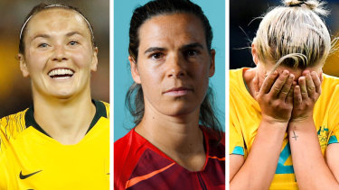 Matildas stars Caitlin Foord, Lydia Williams and Alanna Kennedy.