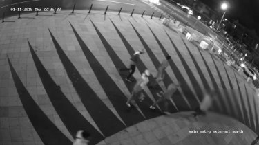 Youths captured on CCTV cameras in St Kilda on the night of the attack.