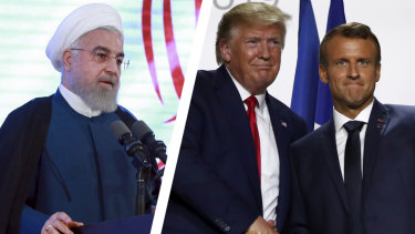 Rouhani's u-turn came a day after after a surprise intervention by French President Emmanuel Macron.