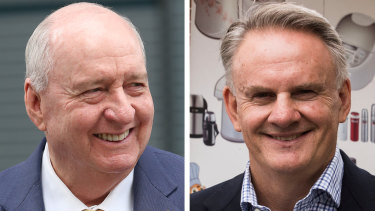 Broadcaster Alan Jones (left) has donated to Mark Latham's election campaign.