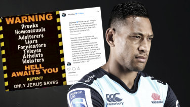 Israel Folau has argued that his sacking by Rugby Australia was unlawful on religious grounds.