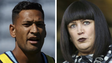 Battle lines drawn: Folau is fighting Rugby Australia's attempts to sack him.