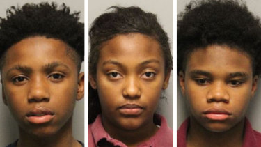Arrested over Kyle Yorlets' death: Decorrius Wright, 16, Roniyah McKnight, 14, and Diamond Lewis, 15.