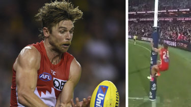 "Dane Rampe copped most of his $11,000 fine for attacking an umpire for ""talking like a little girl""."