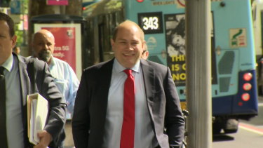 Former NSW general secretary Jamie Clements on his way into ICAC