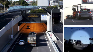 Sydney drivers were caught stopping traffic and cutting across lanes while struggling to navigate entry points to the new M4 tunnel last week.