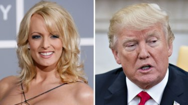 Donald Trump was aware of a hush payment made to porn star Stormy Daniels (left), Cohen said.