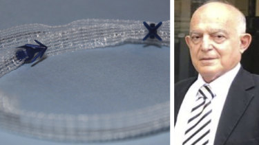 Former surgeon Peter Petros is the public face of a clinical trial of a controversial vaginal mesh device on up to 30 women in Europe. He said the trial has been withdrawn.