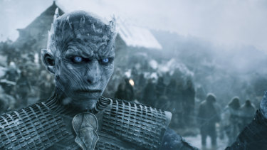 Winter is coming ... the Night King leads the army advancing on Westeros in Game of Thrones.
