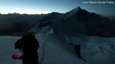The final GoPro footage taken during the Himalayan expedition was recovered by the Indian search team.