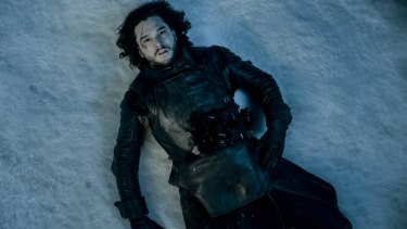 Jon Snow could be staring up the drones circling the sky above.
