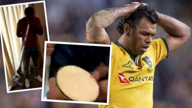 Bad look: Kurtley Beale escaped sanction despite a second video appearing to show him in the presence of illicit drugs.
