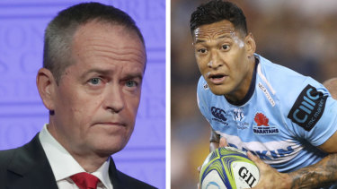 "Bill Shorten said Israel Folau's comments were ""hurtful"", but he is ""uneasy"" about seeing him potentially sacked."