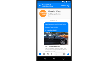Used car dealerships will be able to speak directly to Facebook users through Messenger.